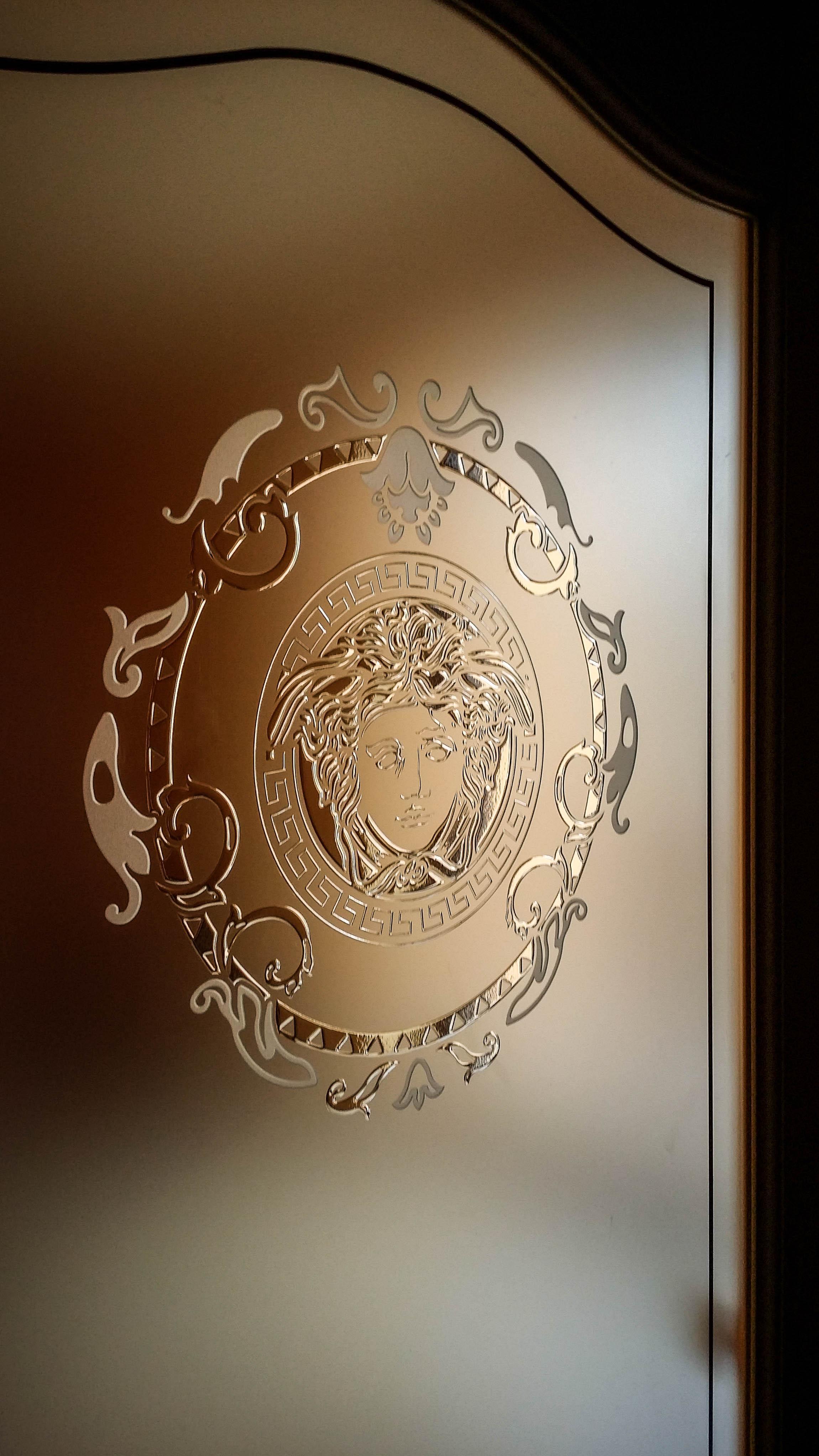 Esempi porte interne classiche modello gemma xilema - Porte in legno con vetro decorato ...